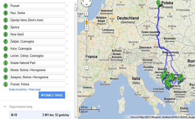 bałkany mapa