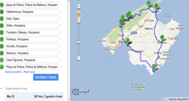 mapa majorka