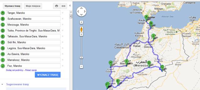 trasa maroko