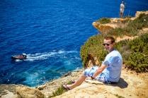 Przystanek: Blue Grotto. Okolica jest przepiękna