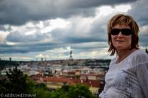 Panorama Pragi z Latenskich Sadów