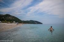 kąpiel na plaży w Dhermi