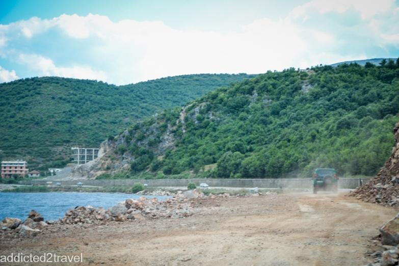 droga do granicy z Macedonią