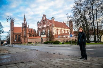 kościół św Anny i pomnik Mickiewicza