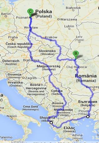 Nasza trasa - prawie 6,5 tys. km, 5 krajów