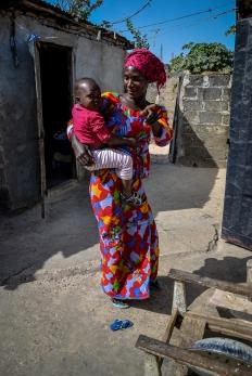żona i najmłodsza córka Lamina